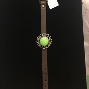 Jewelry - Watch style leather bracelet